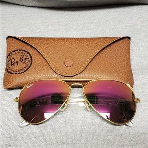 Brand new ray ban pink mirrored sunglasses